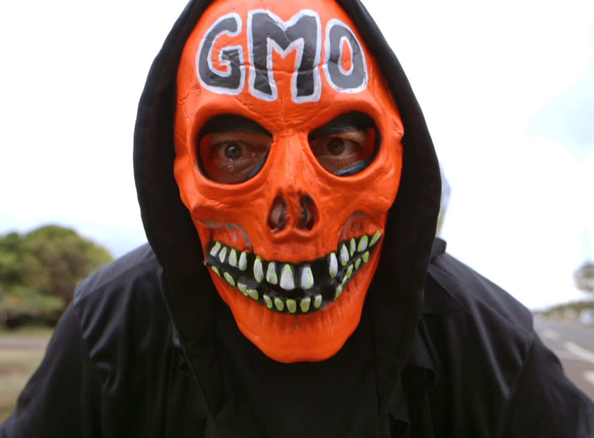 Food Evolution casts critics of GMOS as fear mongers and extremists. Here, the GMO Grim Reaper. Photo courtesy of Black Valley Films.